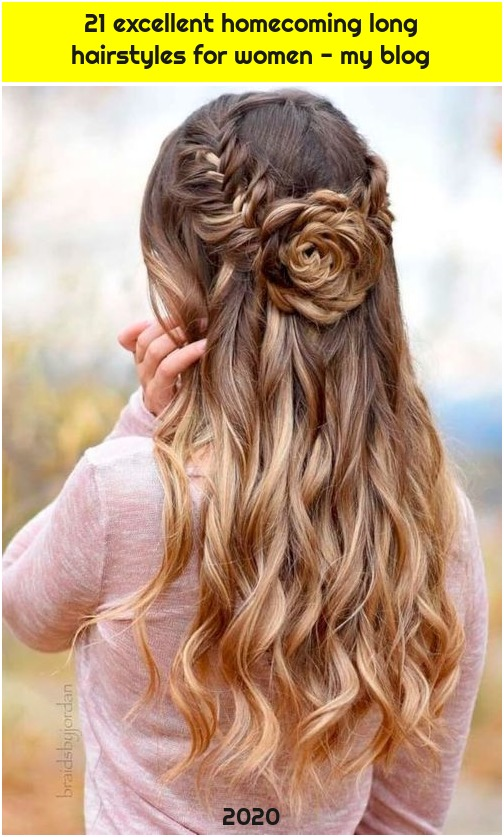 21 excellent homecoming long hairstyles for women - my blog