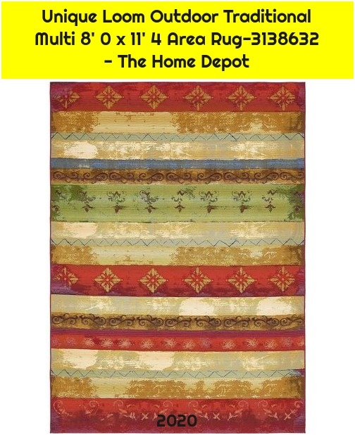 Unique Loom Outdoor Traditional Multi 8' 0 x 11' 4 Area Rug-3138632 - The Home Depot