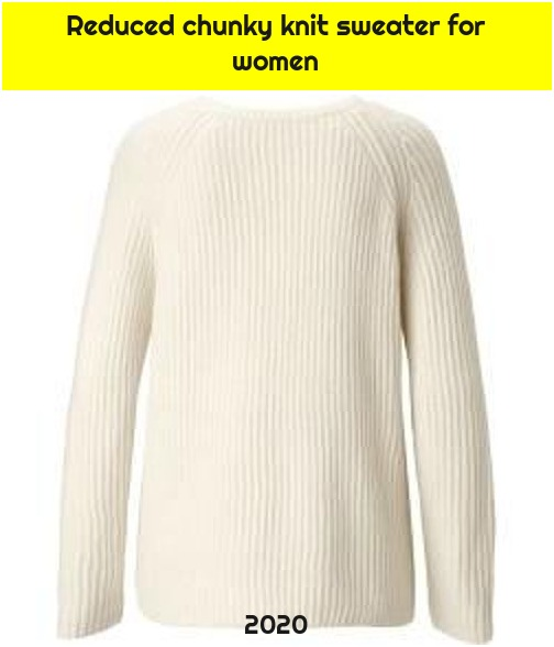 Reduced chunky knit sweater for women