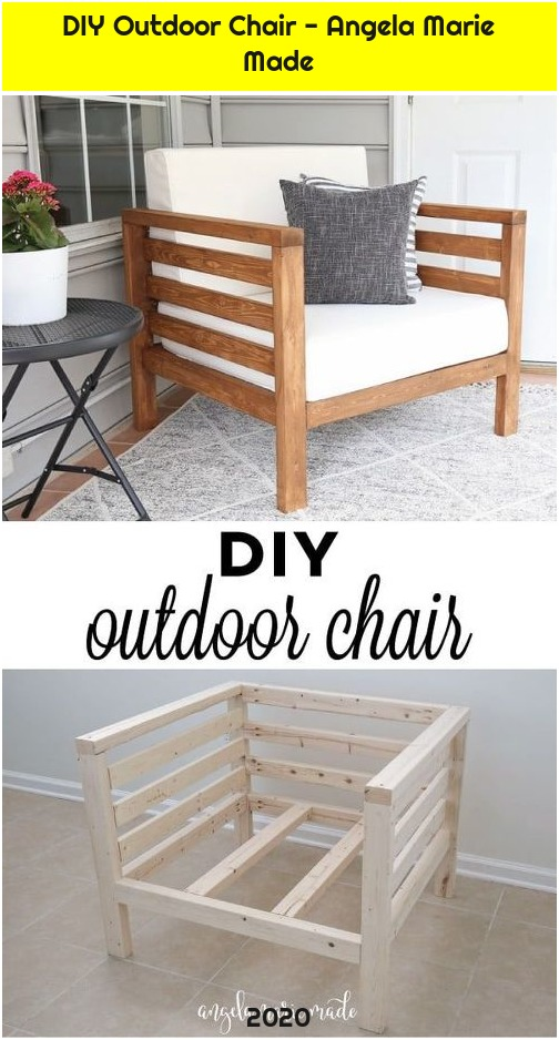 DIY Outdoor Chair - Angela Marie Made