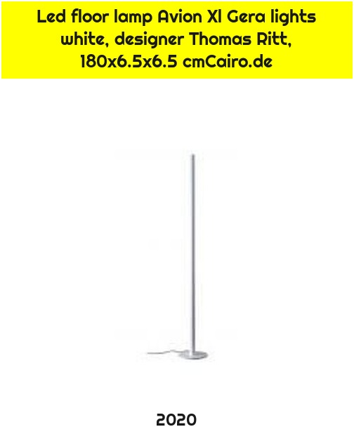 Led floor lamp Avion Xl Gera lights white, designer Thomas Ritt, 180x6.5x6.5 cmCairo.de