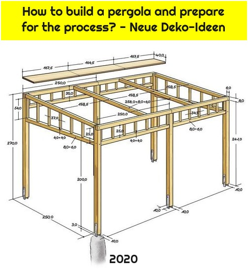 How to build a pergola and prepare for the process? - Neue Deko-Ideen