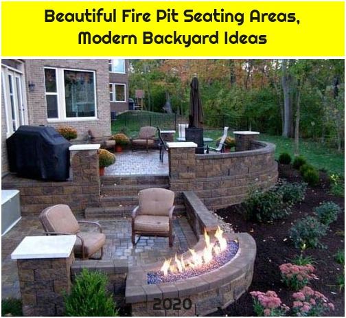 Beautiful Fire Pit Seating Areas, Modern Backyard Ideas
