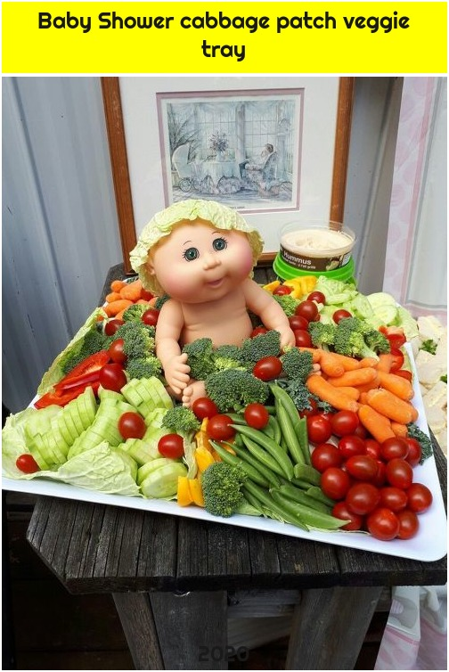 Baby Shower cabbage patch veggie tray