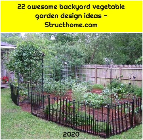 22 awesome backyard vegetable garden design ideas - Structhome.com