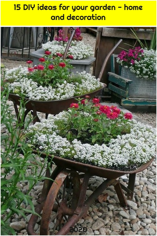 15 DIY ideas for your garden - home and decoration