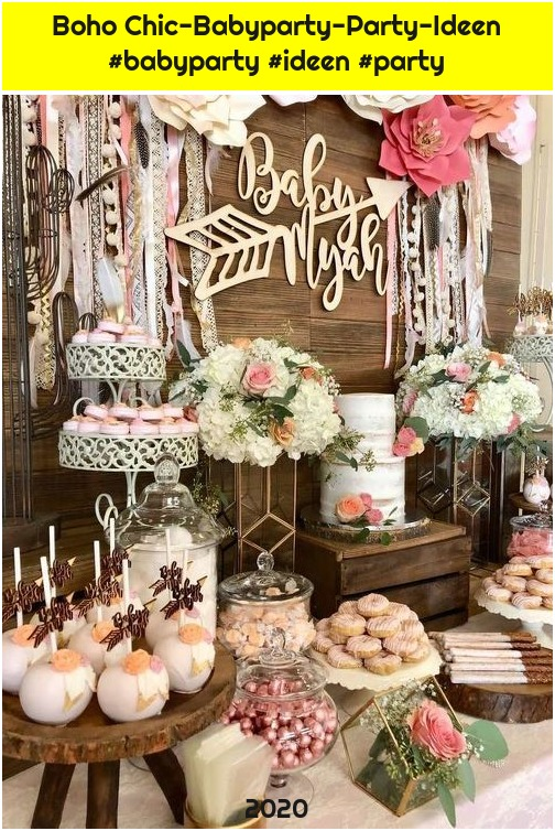 Boho Chic-Babyparty-Party-Ideen #babyparty #ideen #party