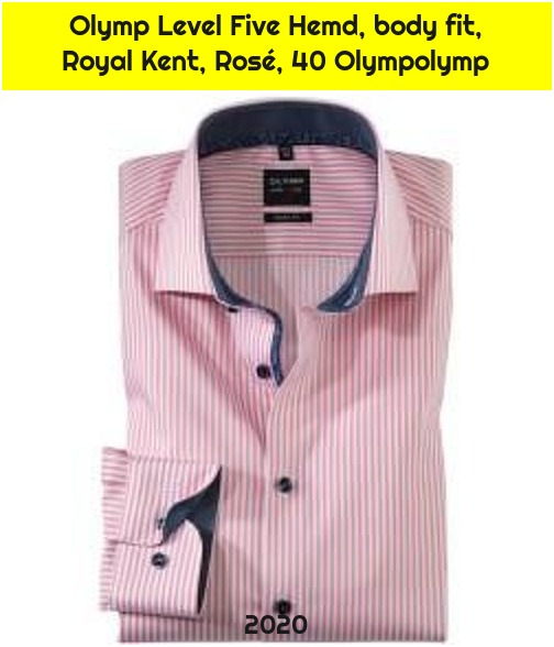 Olymp Level Five Hemd, body fit, Royal Kent, Rosé, 40 Olympolymp