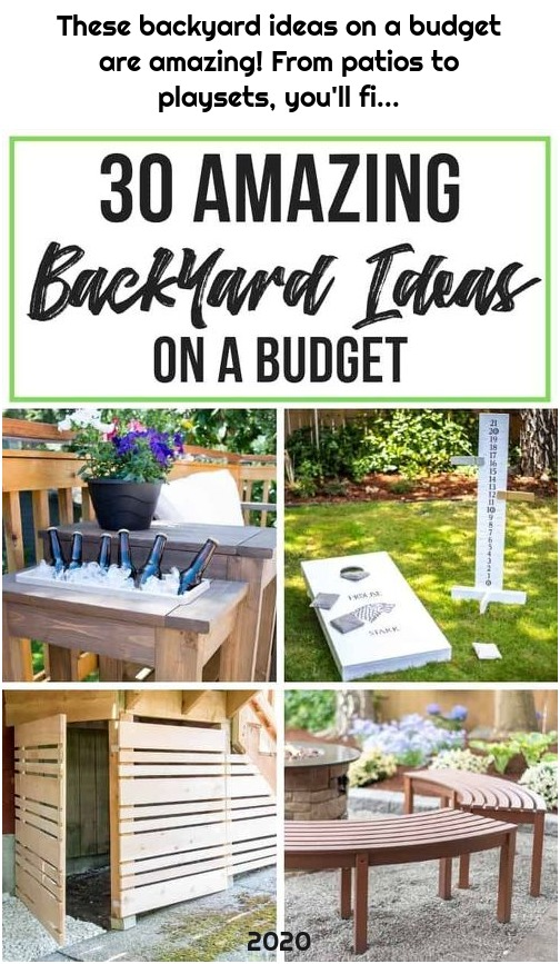 These backyard ideas on a budget are amazing! From patios to playsets, you'll fi...