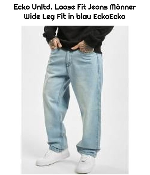 Ecko Unltd. Loose Fit Jeans Männer Wide Leg Fit in blau EckoEcko