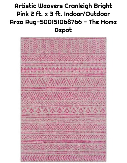 Artistic Weavers Cranleigh Bright Pink 2 ft. x 3 ft. Indoor/Outdoor Area Rug-S00151068766 - The Home Depot