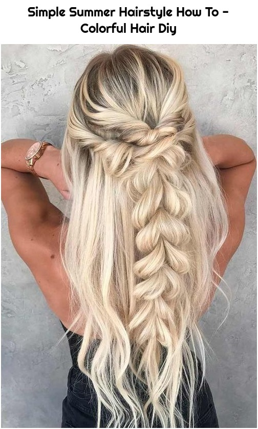 Simple Summer Hairstyle How To - Colorful Hair Diy