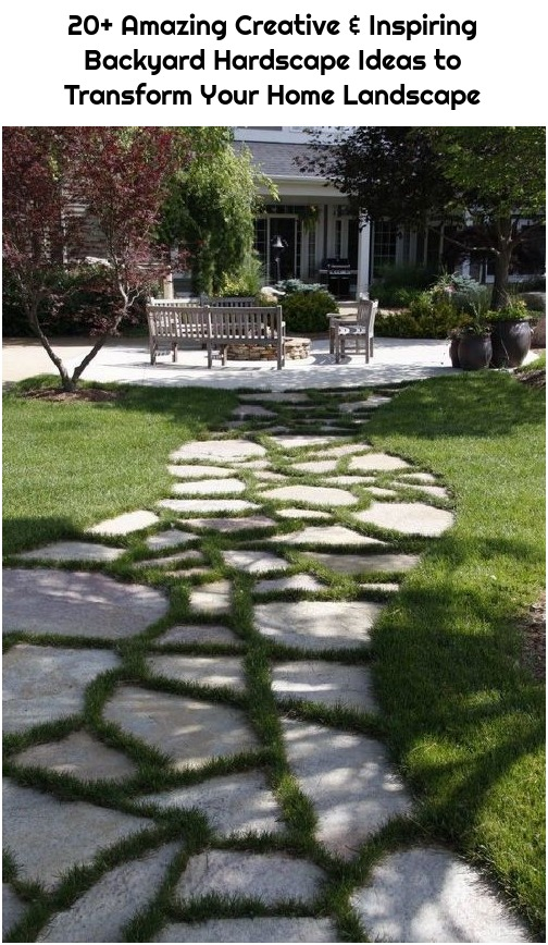 20+ Amazing Creative & Inspiring Backyard Hardscape Ideas to Transform Your Home Landscape