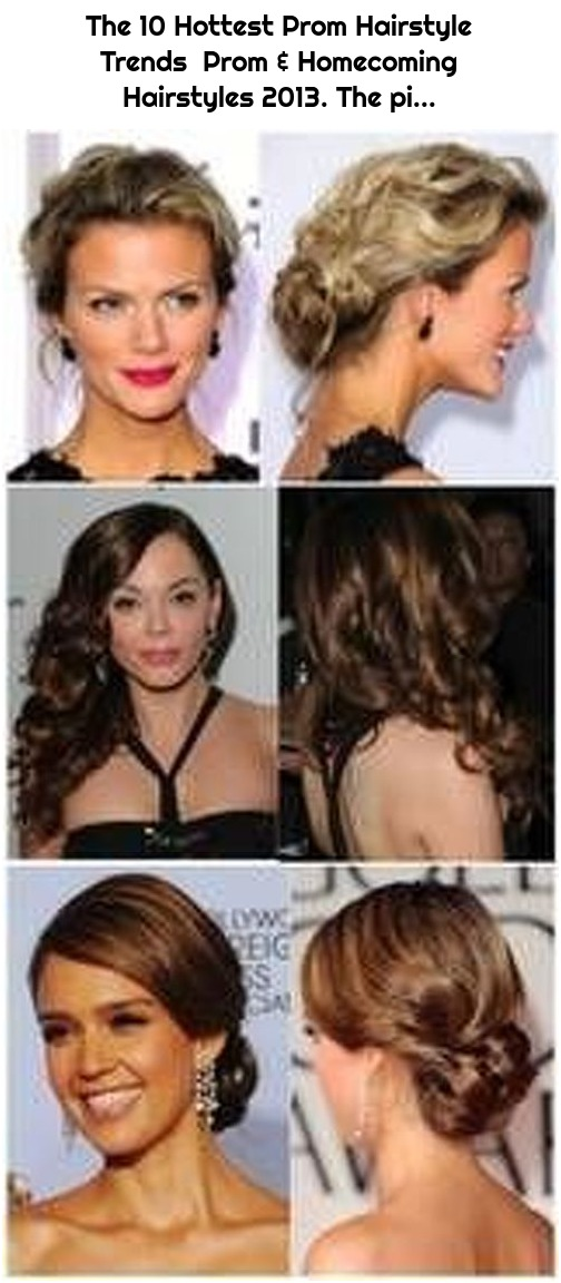 The 10 Hottest Prom Hairstyle Trends Prom & Homecoming Hairstyles 2013. The pi...