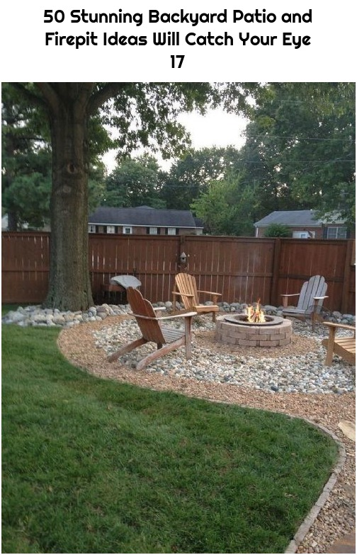 50 Stunning Backyard Patio and Firepit Ideas Will Catch Your Eye 17