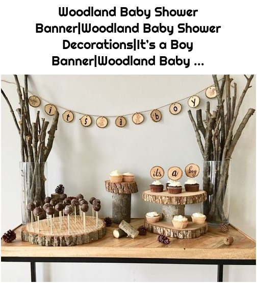 Woodland Baby Shower Banner|Woodland Baby Shower Decorations|It's a Boy Banner|Woodland Baby ...