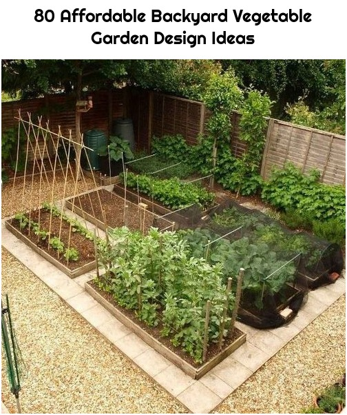 80 Affordable Backyard Vegetable Garden Design Ideas