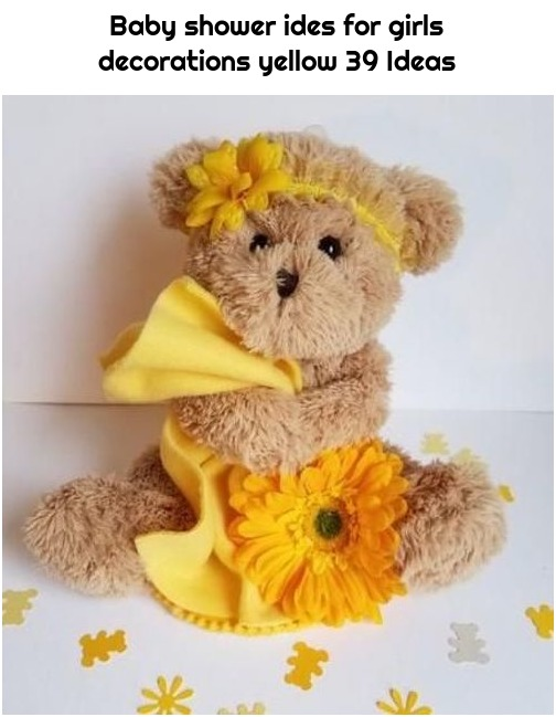 Baby shower ides for girls decorations yellow 39 Ideas