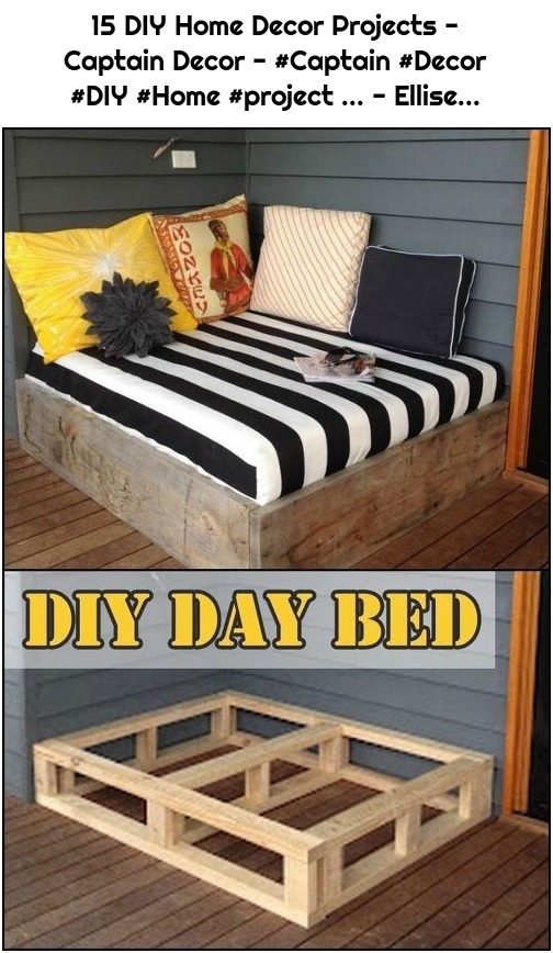 15 DIY Home Decor Projects - Captain Decor - #Captain #Decor #DIY #Home #project ... - Ellise...