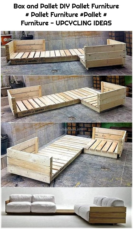 Box and Pallet DIY Pallet Furniture # Pallet Furniture #Pallet # Furniture - UPCYCLING IDEAS