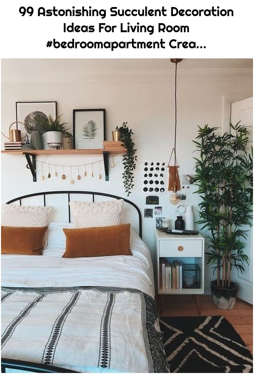 99 Astonishing Succulent Decoration Ideas For Living Room #bedroomapartment Crea...