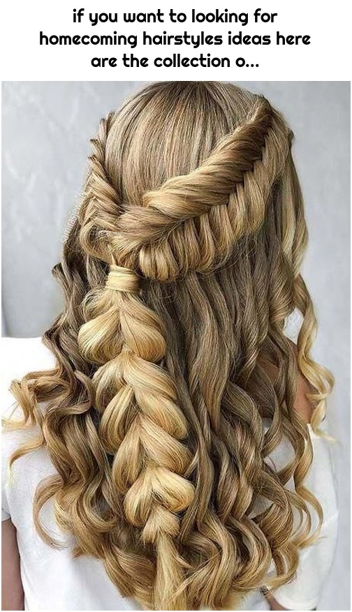 if you want to looking for homecoming hairstyles ideas here are the collection o...