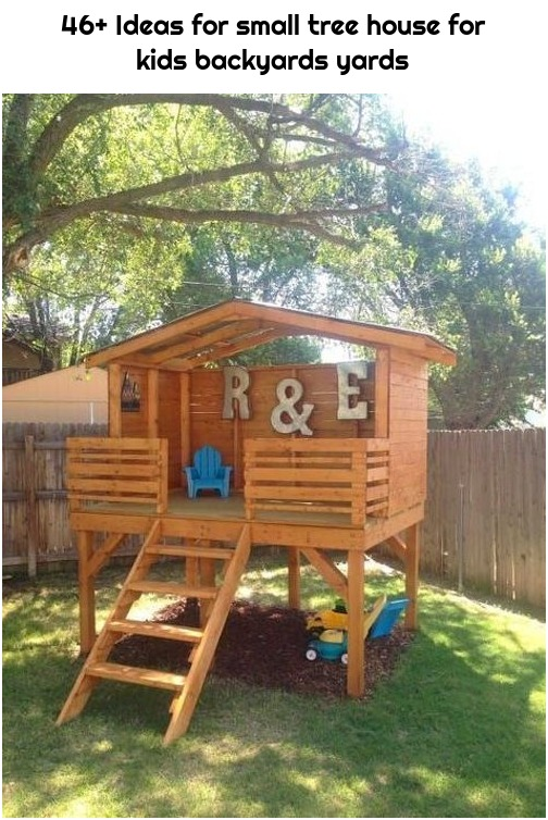 46+ Ideas for small tree house for kids backyards yards