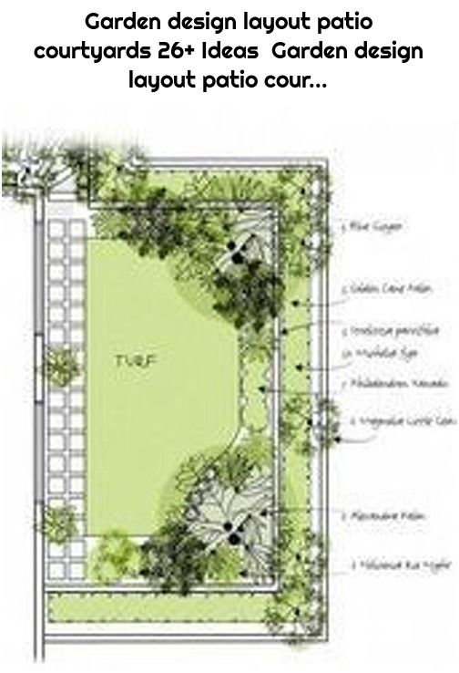 Garden design layout patio courtyards 26+ Ideas Garden design layout patio cour...