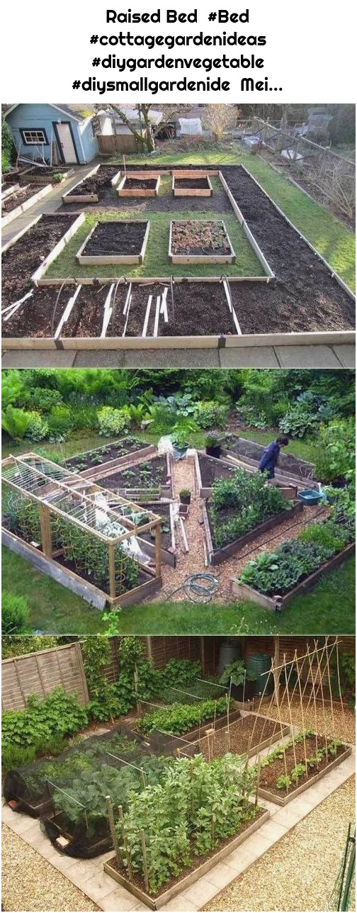 Raised Bed #Bed #cottagegardenideas #diygardenvegetable #diysmallgardenide Mei...