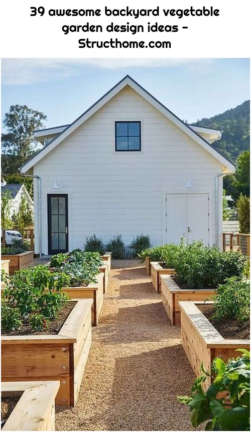 39 awesome backyard vegetable garden design ideas - Structhome.com