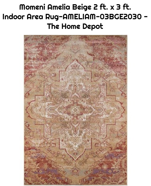 Momeni Amelia Beige 2 ft. x 3 ft. Indoor Area Rug-AMELIAM-03BGE2030 - The Home Depot